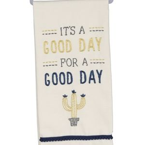 """NWT """"It's a Good Day for a Good Day"""" dish towel"""